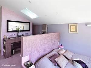 couleur chambre elle decoration With chambre lilas et gris
