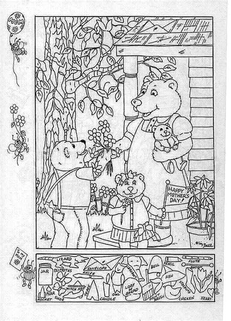 hidden pictures publishing mother s day printable hidden