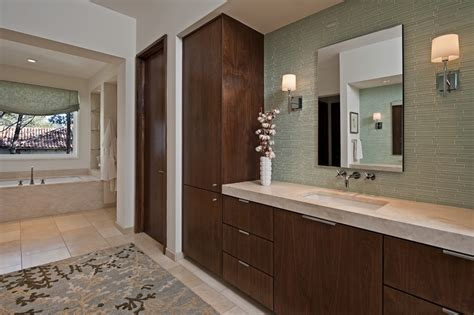 contemporary built in cabinets glass tile bathroom bathroom beach with built in shelves