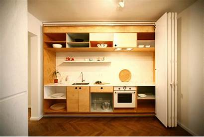 Kitchen Messy Apartment Hide Way Studio Tiny