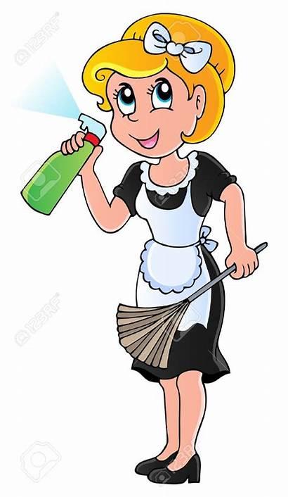 Housekeeping Clipart Housekeeper Clip Cartoon Cliparts Cartoons