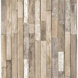 Brewster barn board brown thin plank wallpaper fd23274 for Barn board planks