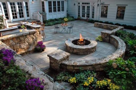Backyard Pit Landscaping Ideas by 30 Wall Pictures And Design Ideas To Beautify Yard