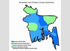 FileBangladesh map of Köppen climate classificationsvg