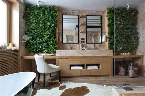 bathroom eco design  small vertical gardens