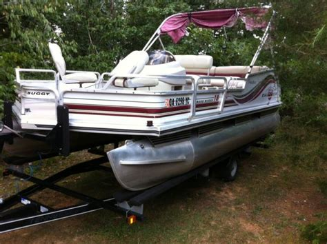 Used Pontoon Boats Bass Tracker by Signatur Sun Tracker 18 Bass Buggy Pontoon Boat 40hp