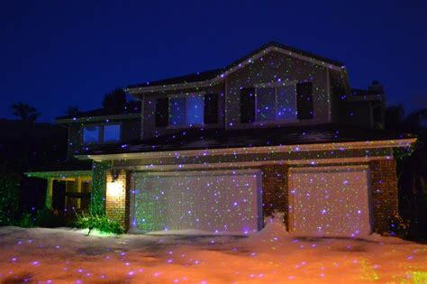 awesome light projectors and houses lit up