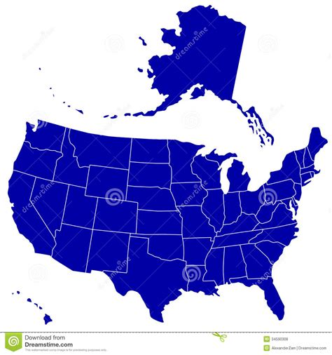 silhouette map  usa royalty  stock  image