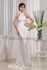 simple mermaid halter wedding dress bridal gown With simple halter wedding dress