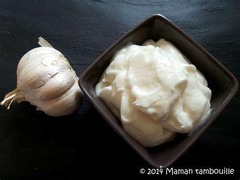 cuisine libanaise recette sauce blanche à l 39 ail libanaise maman tambouille
