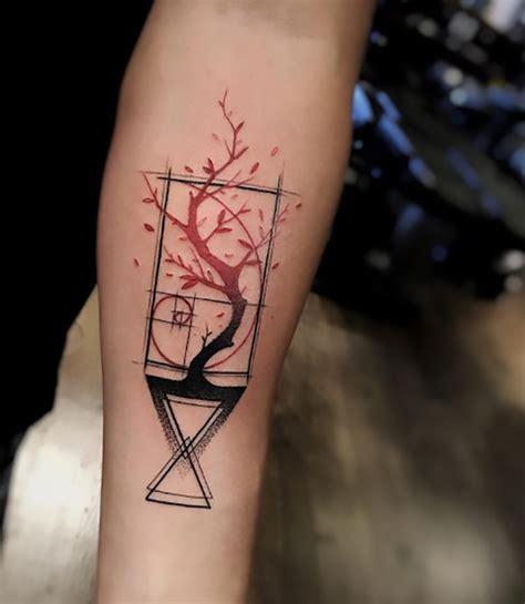 60 Lebendige Und Attraktive Geometric Watercolor Ideen by Coole Kleine Tattoos Mδnner