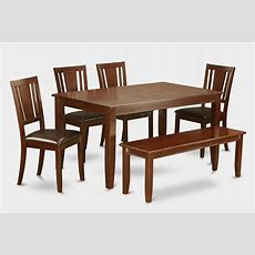 6 Piece Kitchen Table With Benchtable And 4 Chairs For