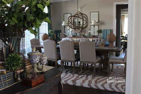 …blue Egg Brown Nest Home Colors Dining Room