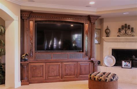 Home Theater Cabinets by Custom Alder Home Theater Cabinet Traditional Styling