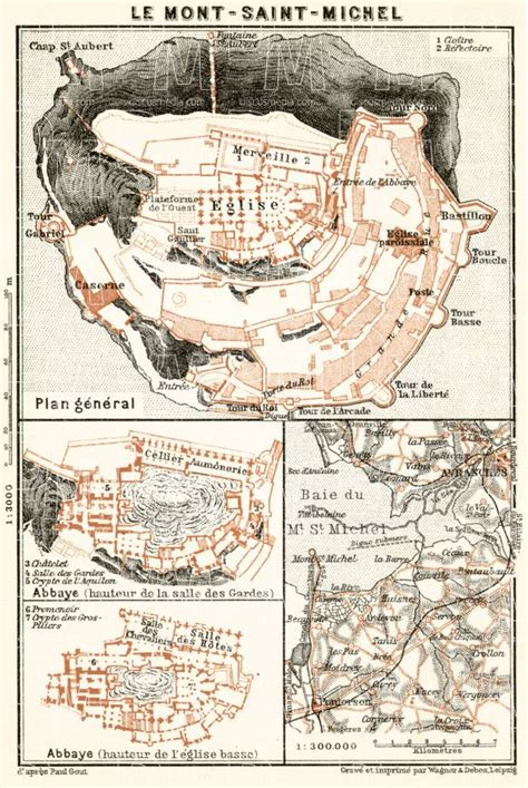 map of mount michael mont michel and vicinity in 1909 buy vintage map replica