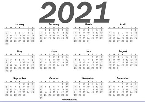 printable  calendars horizontal hipiinfo