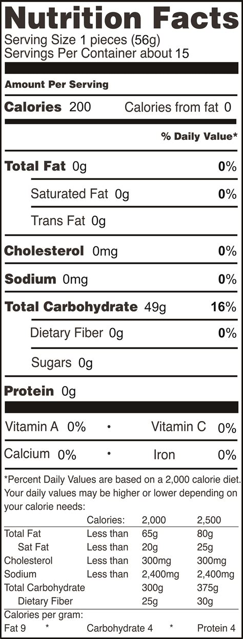 nutrition facts gemini food corporation