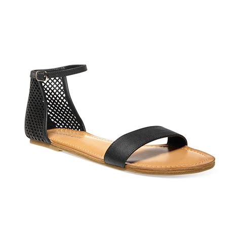 3 1 phillip lim sandals madden znapshot perforated flat sandals in black lyst