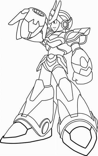 Coloring Megaman Pages Blade Armor X6 Sheets