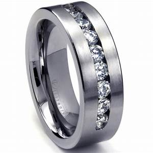 wedding rings mens wedding bands tungsten mens platinum With tungsten men wedding rings