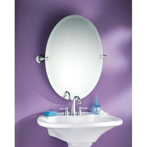 Tilting Bathroom Mirror oval tilting mirror beveled edge finish bathroom glass