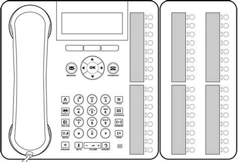 Avaya Phone Template by Avaya 8410d Phone Template Templates Resume Exles