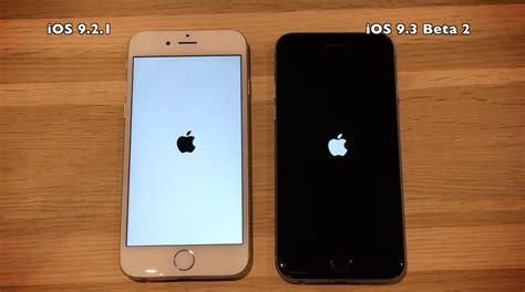 iphone 4s vs iphone 5s ios 9 3 beta 2 vs ios 9 2 1 on iphone 6 5s 5 4s
