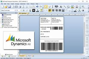 4 ways to print labels from dynamics ax miles data With bartender label templates