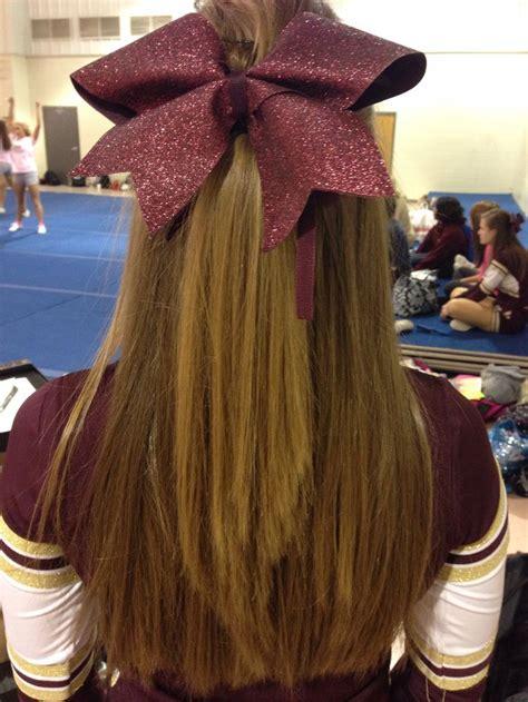 cute bows hairstyles  teenagers cheer hair cheer