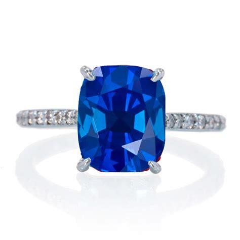 carat cushion cut sapphire  diamond celebrity