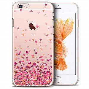 Coque Iphone 6 : coque crystal iphone 6 6s extra fine design made in france heart flakes ~ Teatrodelosmanantiales.com Idées de Décoration
