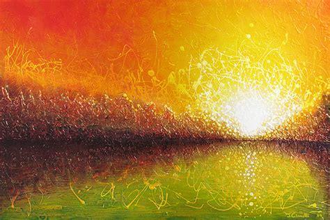 """Bursting Sun"" - Abstract Landscape Painting"
