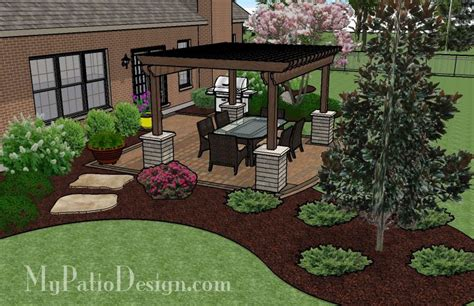 Landscape And Patio Design by A Patio Designed With Shade Patio Designs And Ideas G