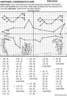 Printable Fun Coordinate Graph Worksheets  Graphing  Coordinate Plane  D  Math Math