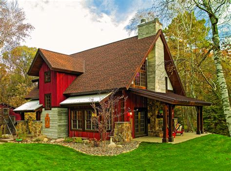 cabin style homes polishing a minnesota gem