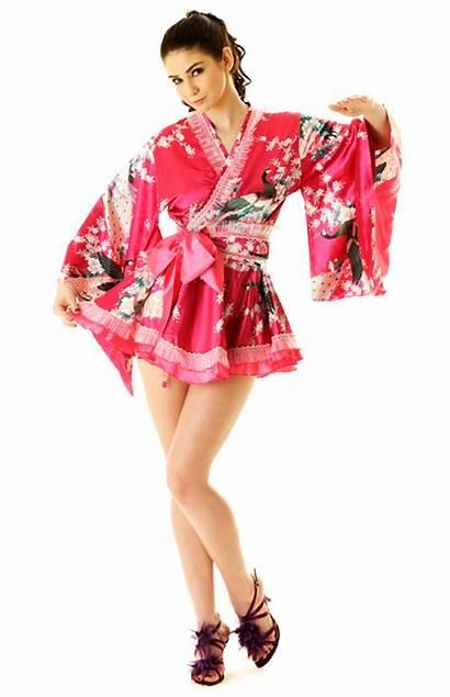 Kimono Pink Mini Short Skirt Yukata Asian