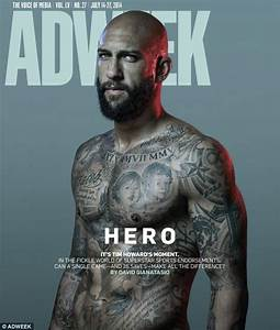 Tim Howard's tattooed torso graces the cover of Adweek ...