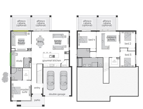 split level floor plan modern house plans split level