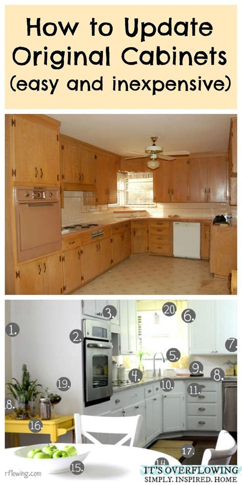 update original cabinets easy  inexpensive
