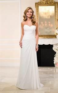 traditional chiffon sheath bridal gown stella york With stella york wedding dress prices