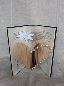 Origami Fleur Coeur D étoile : livre pli livre objet c ur pliage origami fleur papier ~ Melissatoandfro.com Idées de Décoration