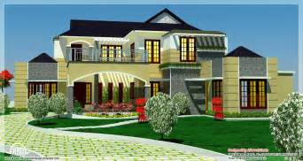 luxurious home plans 5 bedroom luxury home in 2900 sq kerala home