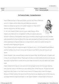 sir francis drake comprehension