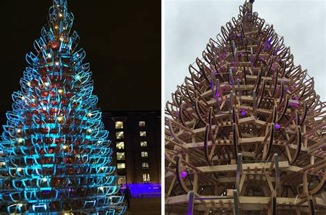 Giant Christmas Trees Have Sprouted Up In London, Budapest