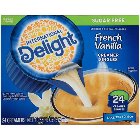 Says sugar free the says they add an ingredient which adds a trivial amount of sugar. International Delight Sugar-Free French Vanilla Coffee Creamer Singles (24 each) - Instacart