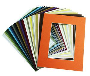 5x7 Photo Mats - set of 50 8x10 assorted colors photo mats for 5x7 photos