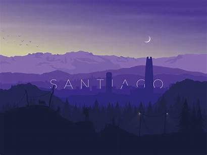 Santiago Sunset Chile Nature Dribbble Palette Branding