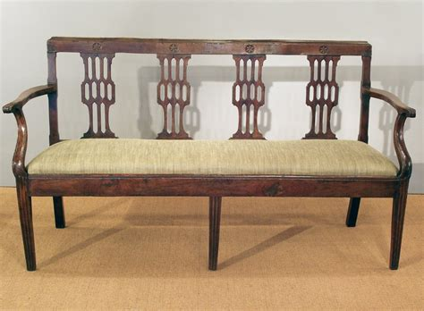settee wood antique cherry wood settee antique bench antique