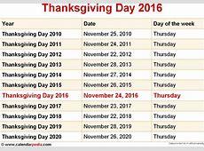 2017 Calendar Thanksgiving Day Calendar Template 2018