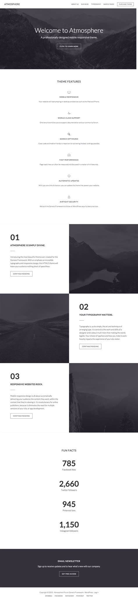 author page template genesis atmosphere pro genesis child theme for business